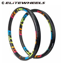 ELITE 26er XC AM Enduro DH MTB Carbon Rims T700  Hookless Rims Tubeless Ready For Mountain Bike Wheels Bicycle 24 28 32 Holes