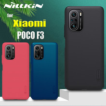 Nillkin Case for Xiaomi POCO F3 5G Frosted Shield Hard PC Plastic Phone Back Shockproof Full Cover on POCO F3 Couqe Funda