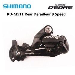 SHIMANO DEORE RD M511 M511 Mountain Bike części rowerowe 9 prędkości przerzutka tylna SGS długa klatka 9s MTB części rowerowe tylne przerzutki|Przerzutki rowerowe|   -