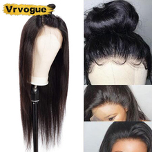 Vrvogue Hair 13x4 Lace Frontal Human Wigs For Black Women Brazilian Straight Remy Wig Pre Plucked Baby