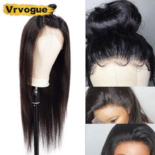 Vrvogue Hair 13x4 Lace Frontal Human Hair Wigs For Black Women Brazilian Straight Remy Lace Frontal Wig Pre Plucked Baby Hair(China)