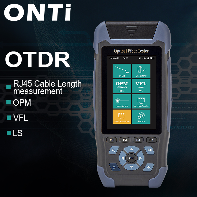 Pro mini OTDR Fibra Ottica Riflettometro 980rev con 9 Funzioni VFL OLS OPM Evento Mappa 24dB per 64km di Fibra cavo Ethernet Tester