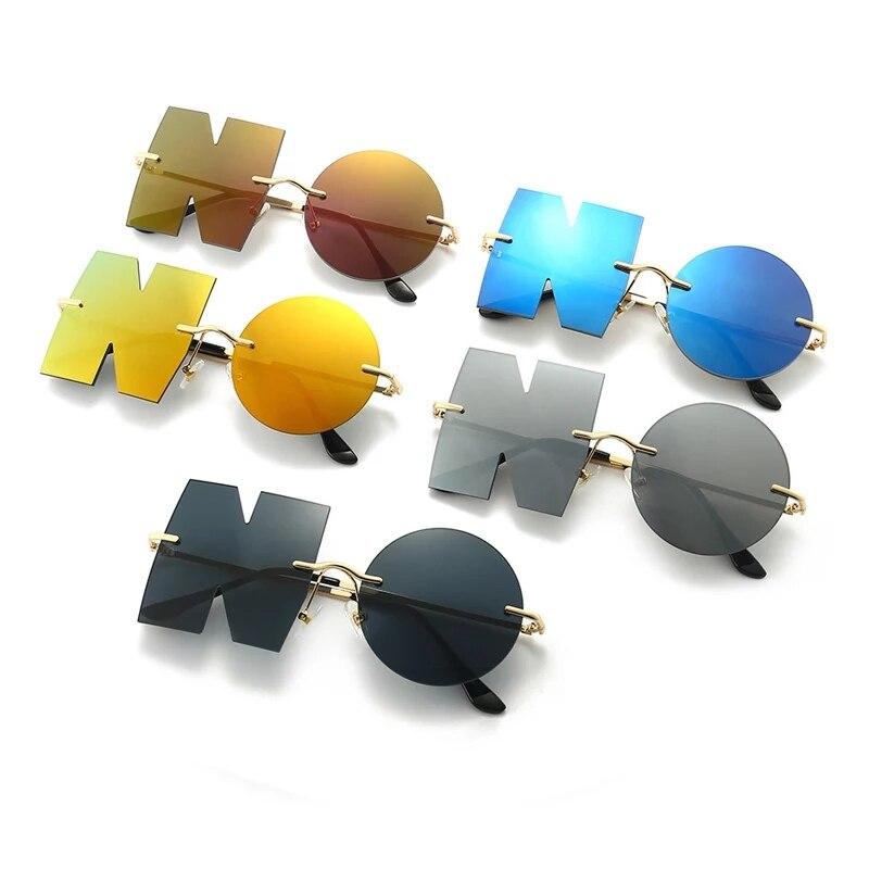 Новинка 2021, модные солнцезащитные очки для женщин, индивидуальные нестандартные солнцезащитные очки унисекс UV400 для дома и вечеринки, мужск...