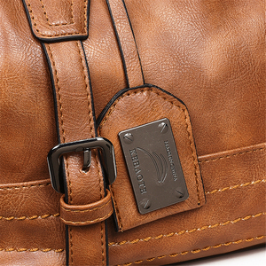 Image 5 - Women Bag Vintage Shoulder Bag Luxury Handbags PU Leather Crossbody Bags For Women 2019 Ladies Boston Casual Tote Bolsa Feminina