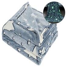Luminous-Blanket for Kids Star Plush-Night Magic Glow-In-The-Dark Super-Soft