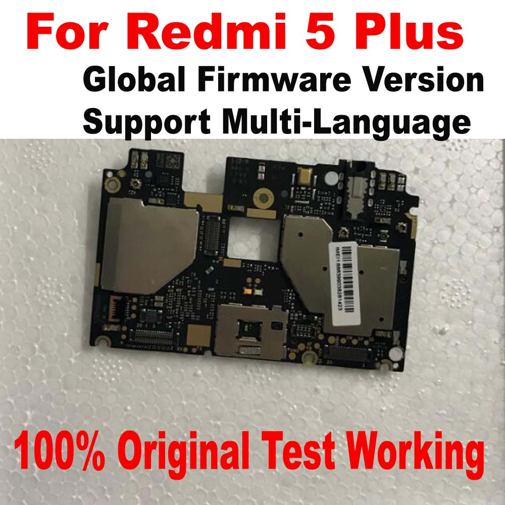 100% Original Unlock Global Version Mainboard For Xiaomi Redmi 5 Plus motherboard Circuits card fee Full chipsets Flex Cable|Mobile Phone Flex Cables| |  - title=