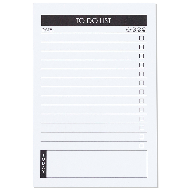 Notebook Caderno Zeszyty Szkolne Weekly Planner Libreta Sticky Papeleria Memo Pad Notes To Do List Notas Adhesivas Cancelleria