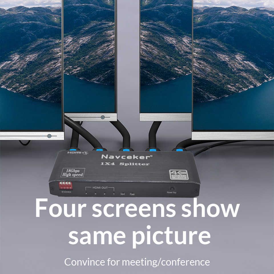 2020 najlepszy rozdzielacz HDMI 1x2 rozdzielacz HDMI 2.0 rozdzielacz wideo 4K HDMI rozdzielacz audio 3D HDR rozdzielacz 4K 60Hz HDMI 1x4 do laptopa