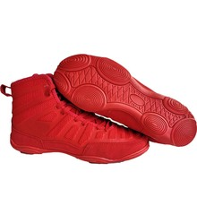 Shoes Boxing-Wrestling Squat Men Rubber for Women High-Top Red Outsole Weightlifting