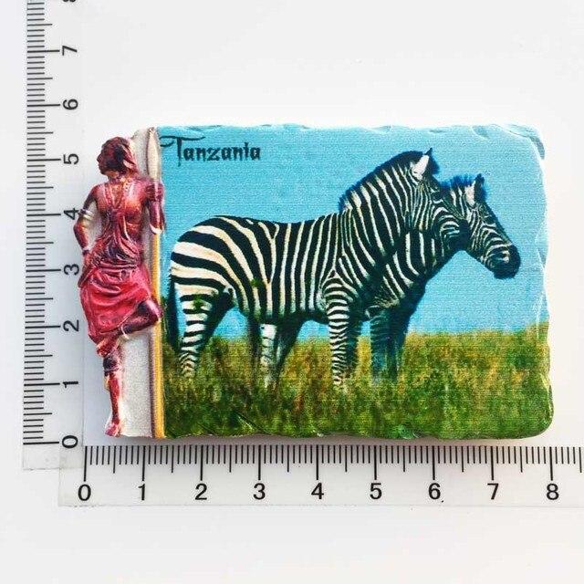 3d Resin Magnets Tanzania Africa Cultural Landscape Tourism Fridge Magnet Souvenir Home Decoration Accessories gift ideas 5
