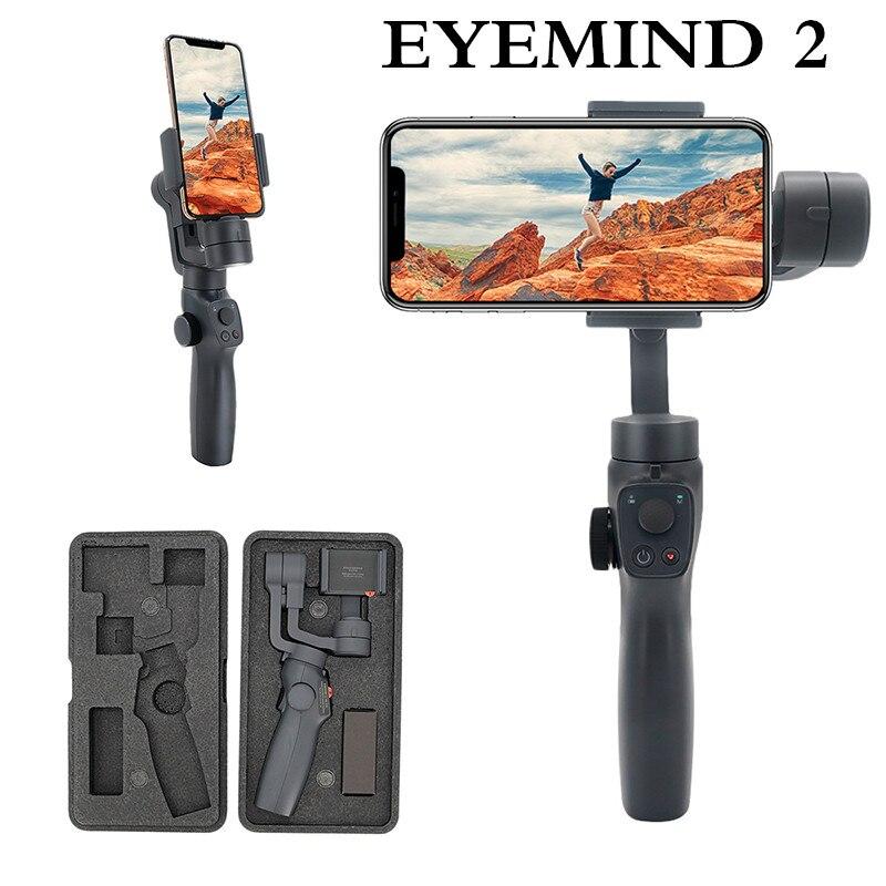 Eyemind 2 Stabilizzatore Tenuto In Mano 3 Assi del Giunto Cardanico Smartphone Viso di Inseguimento Selfie Stick per il iphone Huawei Samsung GoPro Osmo Action