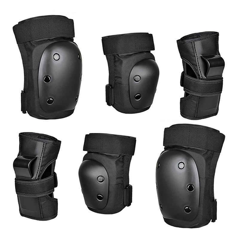 6pcs Children And Adults Protective Gear Set Knee Pads Elbow Pads Wrist Guards For Cycling Bike BMX Bicycle Scootering