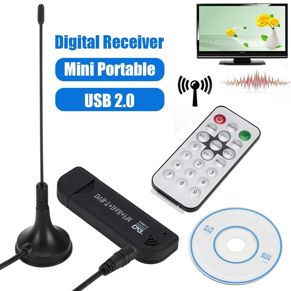 Willkey Новый USB2.0 цифровой DVB-T SDR + DAB + FM ТВ-тюнер приемник SDR TV Stick RTL2832U + FC0012 цифровая Видеозапись в режиме реального времени