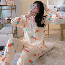 2020 Pajamas for Women Cute Sleepwear Women Pajamas Sets Satin Pijamas Ladies Pyjamas Silk Nightwear Cotton Sleep Lounge