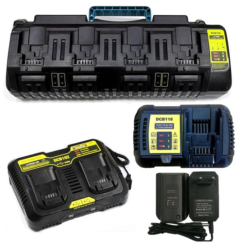 Зарядное устройство для литий-ионных аккумуляторов DCB104, DCB102, DCB118, DCB1418 для литиевых аккумуляторов Dewalt 14,4 В, 18 в, 20 в, DCB140, DCB183, DCB200