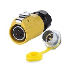 Female Plug Power-Connectors Electric 14-12AWG Waterproof Male-Socket Industrial-Circular