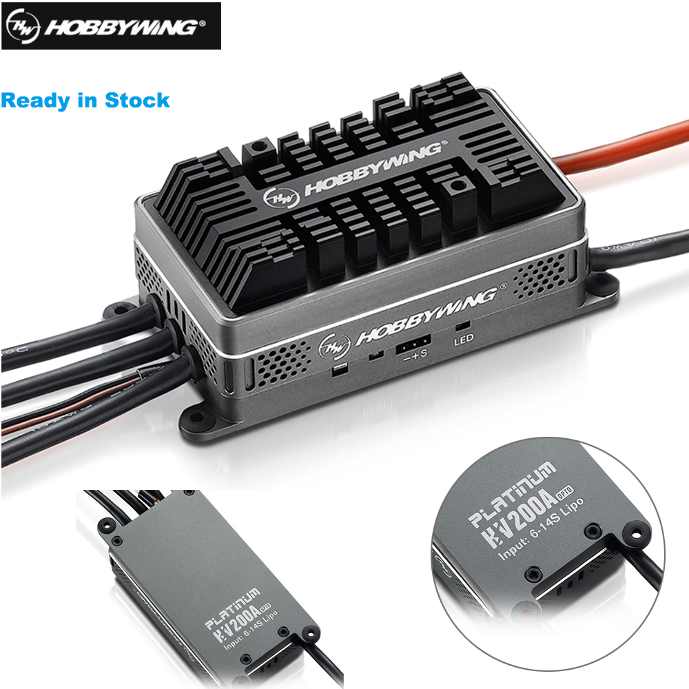 Hobbywing Platinum HV 200A V4.1 6-14S Lipo SBEC / OPTO Brushless ESC for RC Drone Quadrocopter Helicopter Aircraft