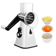 3 in 1 Vegetable Mandoline Slicer Swift Rotary Drum Grater Nut Shredder Veggie Cutter Peeler Spiralizer Cheese Chopper
