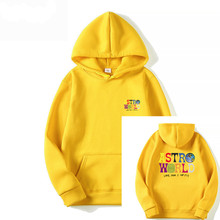 2020 new ASTROWORLD printed long-sleeved  casual funny couple breathable solid color sports hooded hoodie