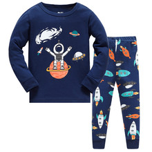 Children pajamas set kids Cartoon Spaceship series sleepwear 100 cotton Girls boys cozy nightwear Family Clothing