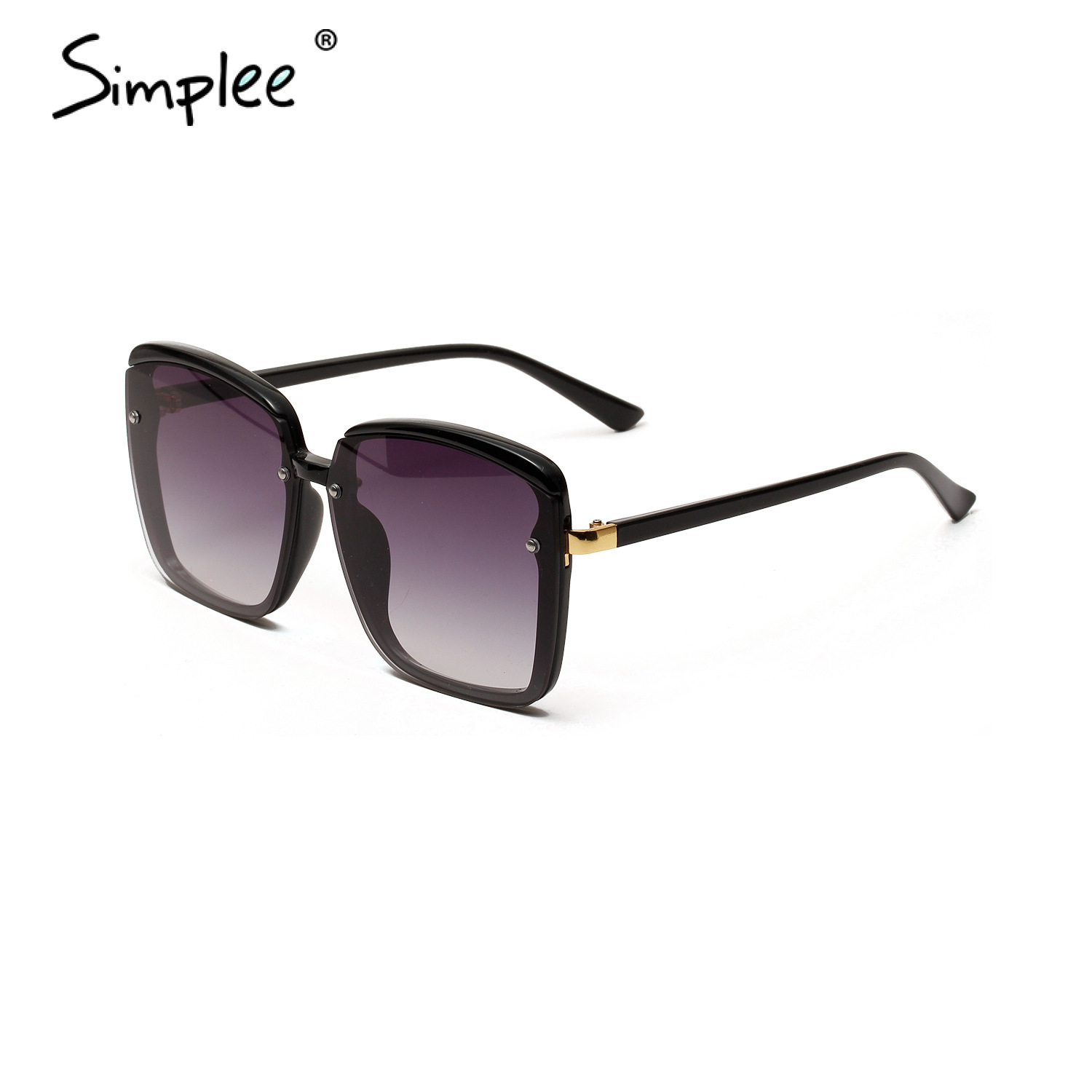 Simplee Chic Summer Sunglasses Women Prescription Glasses Hollow Out Square Gradual Shades Holiday Glasses Causal Beach Glasses