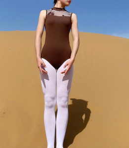 Image 5 - ثياب باليه للبالغين 2020 أنيق وياقة عالية زي للرقص للنساء ملابس رقص للرقص والجمباز
