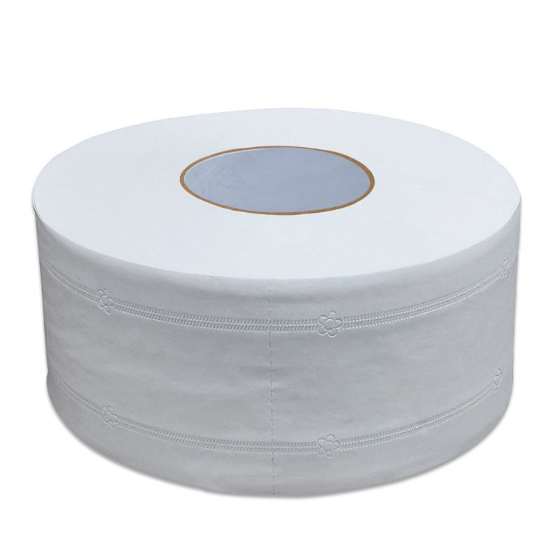 Thicken 4-Ply Large Toilet Roll Paper Embossed No Fluorescent Jumbo Bath Tissue G6KE