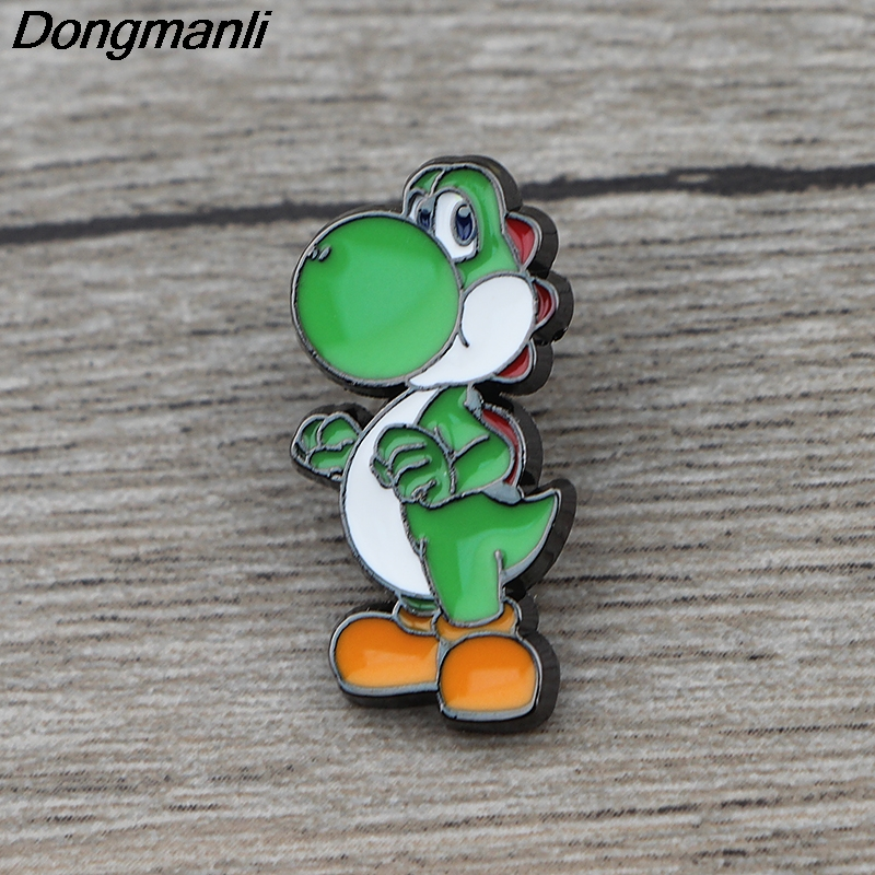 K443 Super Mario Dinosaur  Metal Brooch Pin Button Pins Girl Jeans Clothes Bag Decoration For Women Jewelry Gift