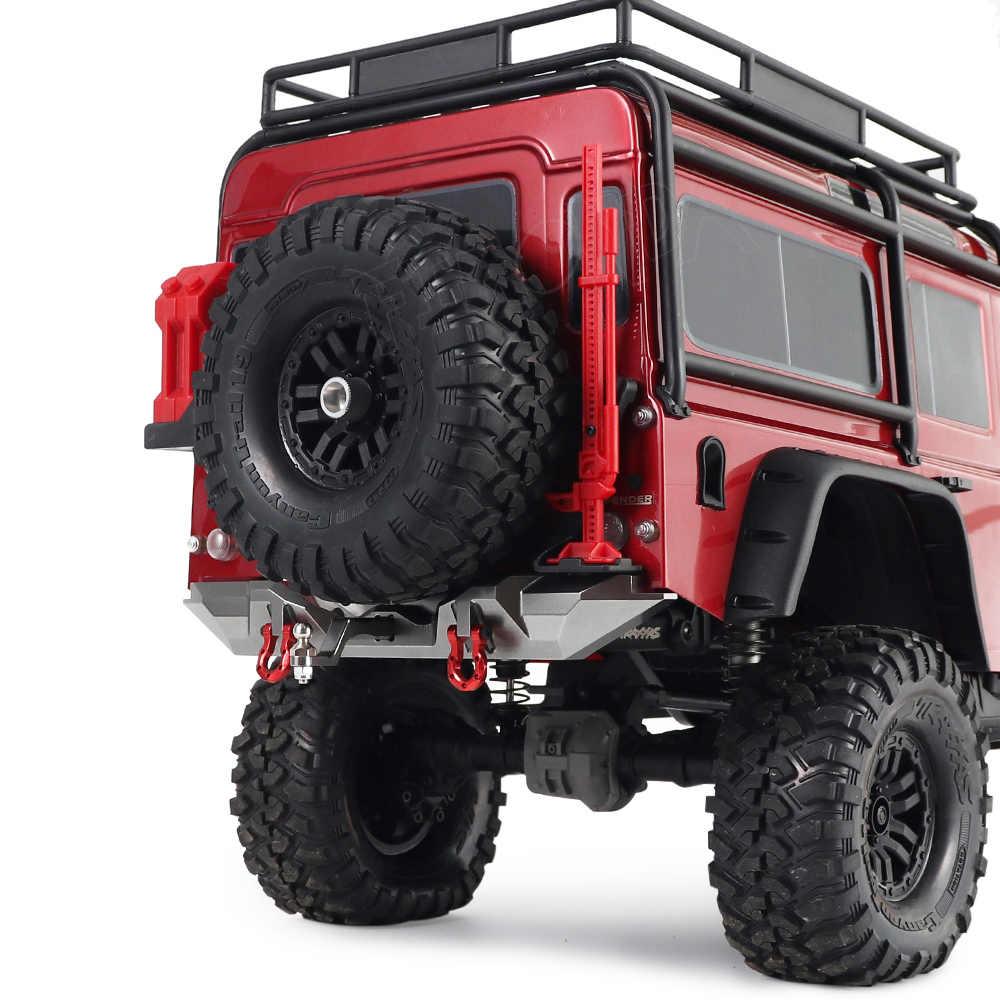 Aluminum Rear Bumper w// Tow Shackles For 1//10 RC TRX-4 Bronco SCX10II 90046