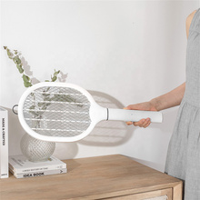 Battery Rechargeable Handheld Electric Fly Swatter Mosquito Killer Racket Bat Lamp With USB Charging Base