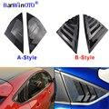 Quarto traseiro Janela Grelhas 2 pçs/set Painel Lateral de Ventilação Adesivo Cobrir Guarnição Para Ford Focus 12-18 ST RS Hatchback ABS Fibra De Carbono
