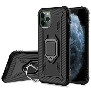 Shockproof Armor Kickstand Cases For iPhone 12 11 Pro Max 6 6S 7 8 Plus X XS XR Case Antishock Magnetic Car Holder Ring Cover(China)