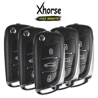 KEYECU 5x (영어 버전) Xhorse DS 스타일 X002 시리즈 3 버튼 VVDI 키 도구  X002 시리즈 용 범용 원격 키