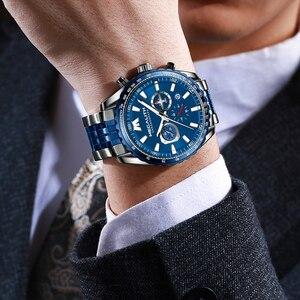 Image 2 - Relógio Do Esporte Dos Homens Relogio masculino 2020 MEGALITH Aeronaves Ponteiro Calendário Data Mens Relógios De Luxo À Prova D Água Relógio de Quartzo Gents
