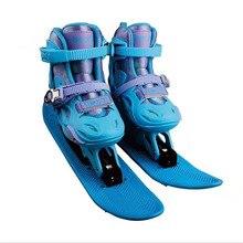 Новое поступление, детские коньки, обувь для катания на коньках, снежный скейтборд для мальчиков и девочек, зимние уличные спортивные кроссовки для катания на лыжах XS s m l