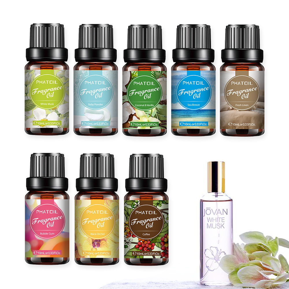 10ml White Musk Perfume Fragrance Essential Oil For Soap Candle Making Baby Powder Sea Breeze Coffee Vanilla Coconut Flavor Oil-0