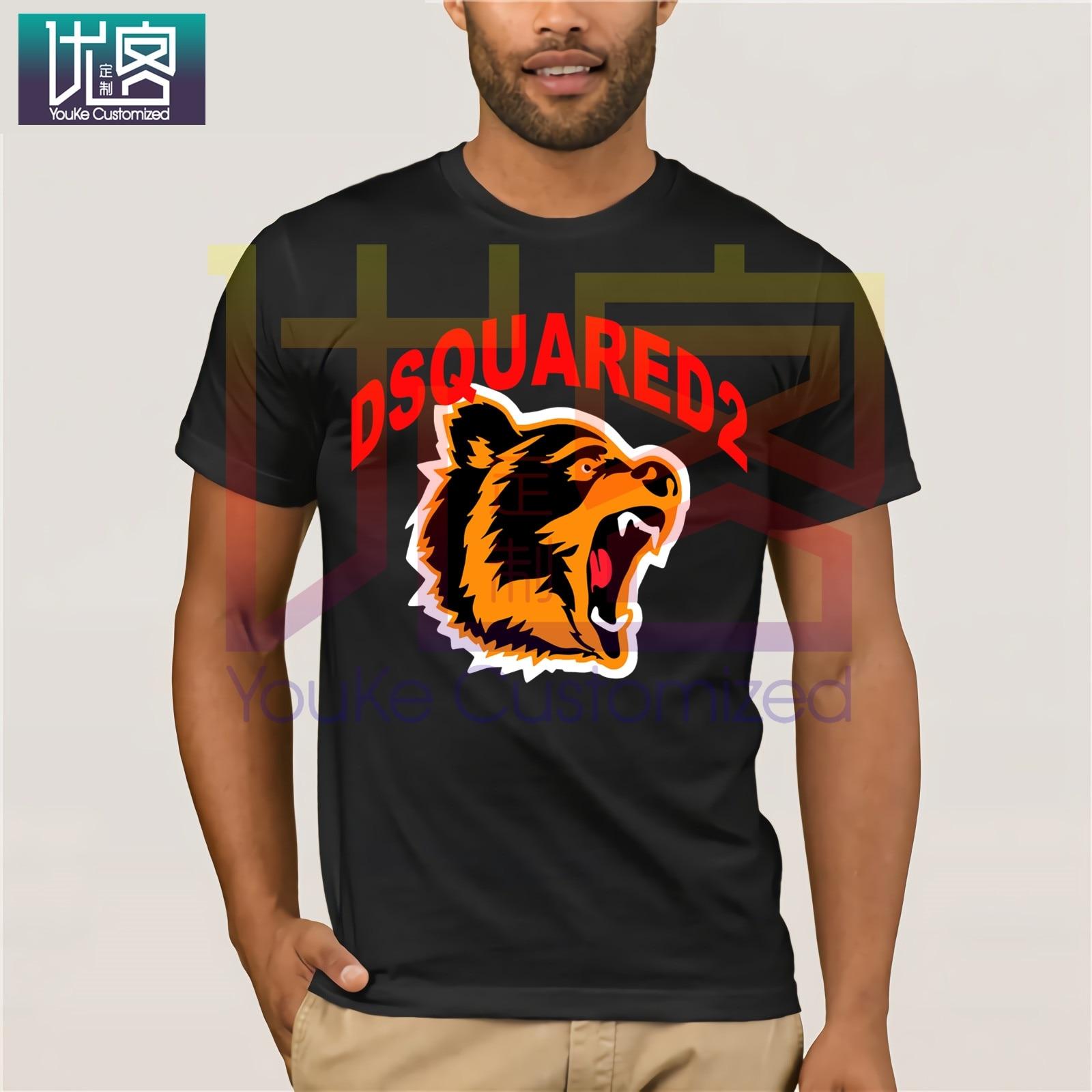 New Dsq2 Men'S T-Shirt Printed Tee Unisex Size S-3Xl Clothes Popular T-Shirt Crewneck 100% Cotton Tees Cotton Tee Shirt Present