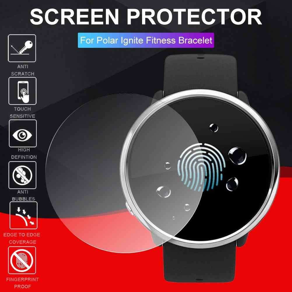 กระจกนิรภัยป้องกันฟิล์มสำหรับ Polar Ignite Fitness Smartwatch คุณภาพสูงความไวสัมผัสสูง