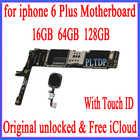 Заводская разблокированная материнская плата для iphone 6 Plus 5,5 дюймов с сенсорным Идентификатором, оригинальная логическая плата для iphone 6 Plus ...