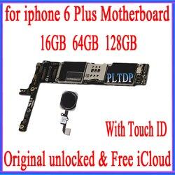 Фабрика разблокирован для iphone 6 плюс 5,5 дюймов материнская плата с сенсорным ID, оригинальный для iphone 6 плюс материнскую плату с Бесплатная ...