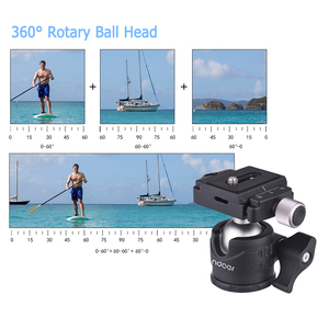 Image 2 - Andoer Mini Tabletop Ball Head 360 Degree Video Tripod Ballhead Mount with Quick Release Plate Bubble Level for Canon Nikon Sony