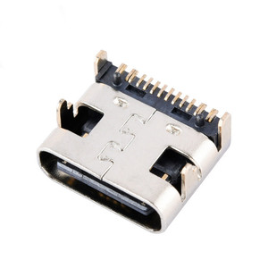 10pcs Type-C USB-3.1 16 pin DIP 30V 3A Micro USB Connectors Female Port Jack Tail Plug Socket Electric Terminals