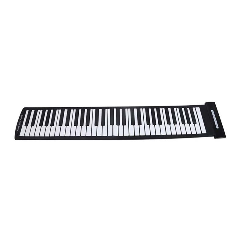 Tragbare <font><b>61</b></font> Tasten Flexible Roll-Up Klavier USB <font><b>MIDI</b></font> Elektronische Tastatur Hand Roll Piano image
