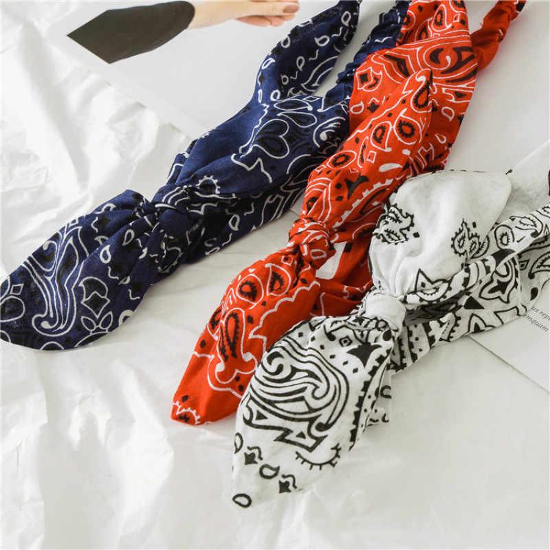 ผู้หญิงวงผมหวานพิมพ์Headbandsอุปกรณ์เสริมผมRetro Crossผ้าพันคอBandanas Hairband Headwrapฤดูร้อนHeadwear