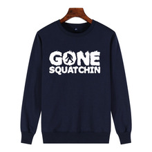 Streetwear Aesthetic Sweatshirt New 100% Cotton Novelty Casual Men Print Bigfoot GONE SQUATCHIN Sasquatch Champion