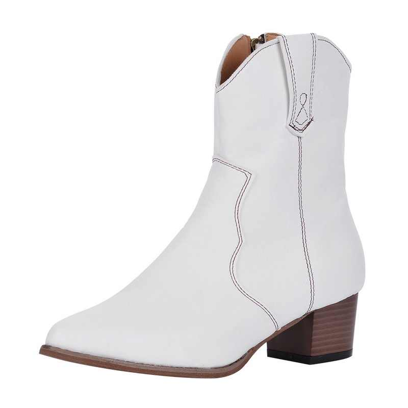Oeak 2019 ใหม่แฟชั่น VINTAGE ผู้หญิงรองเท้ารองเท้าส้นสูงหัวเข็มขัดคาวบอยกลางลูกวัวรองเท้าแฟชั่นรองเท้าลำลองรองเท้า PLUS ขนาด 35-43