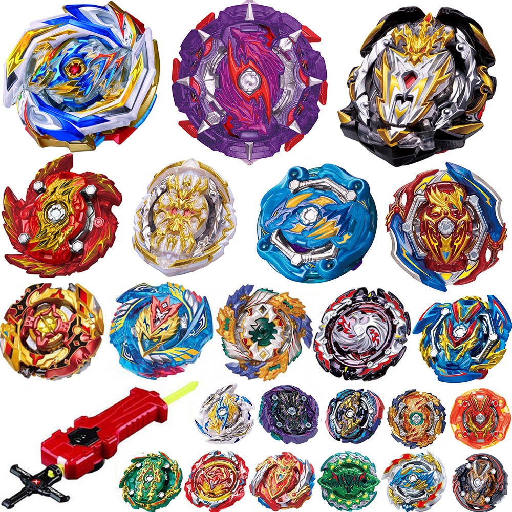 Tops <font><b>Burst</b></font> Launchers <font><b>Beyblades</b></font> Toys sale bables Toupie Bayblade metal fusion God Spinning bey Blade hand finger top spinner toy image