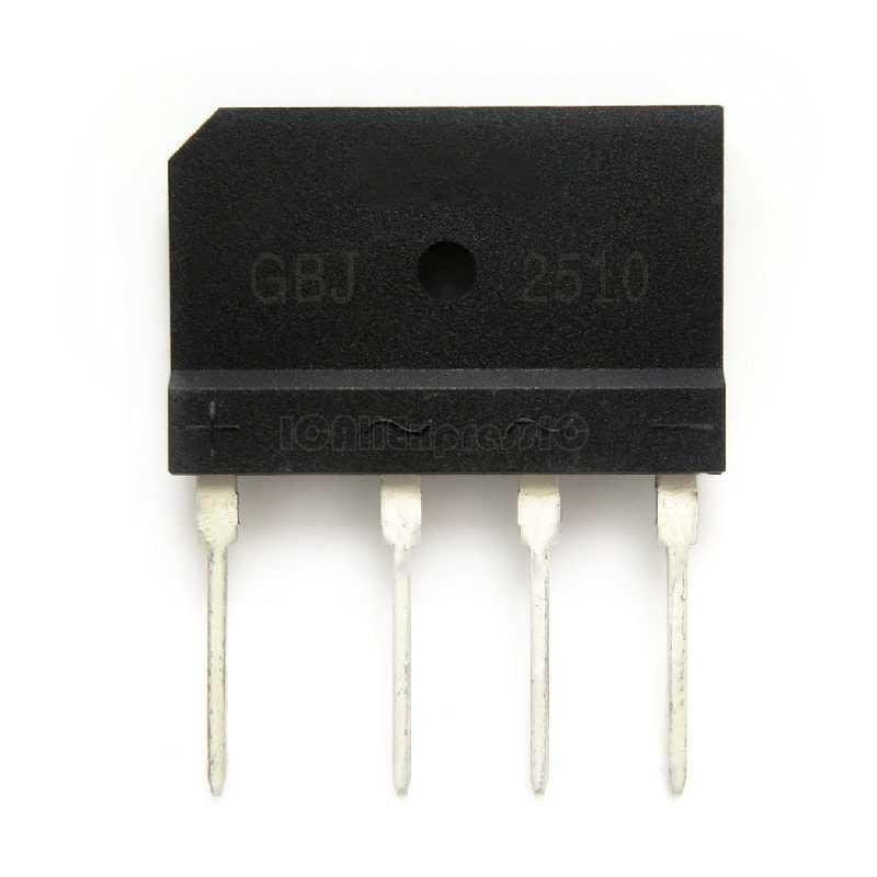 1 teile/los 25A 1000V diode bridge rectifier gbj2510 ZIP Auf Lager