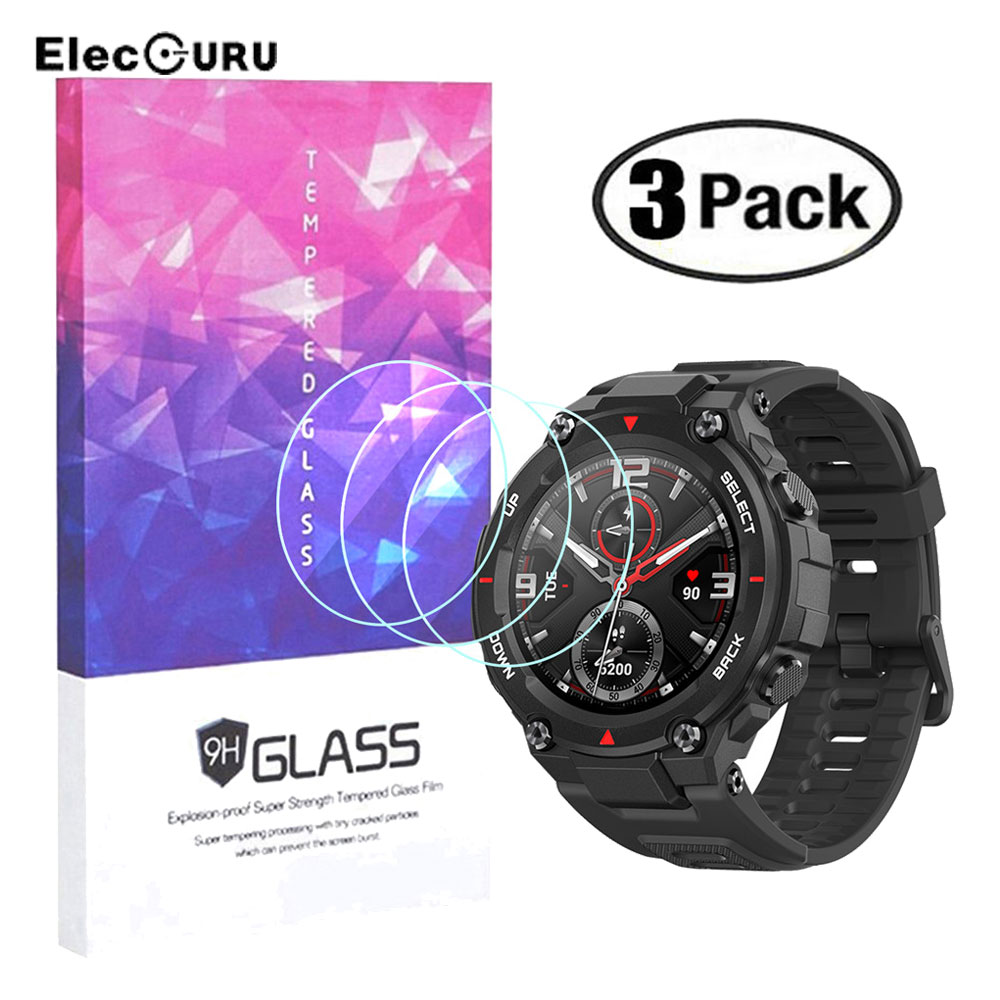 9H Tempered Glass Screen Protector for <font><b>Amazfit</b></font> T-Rex Sport Smartwatch,2.5D HD Anri-scratch Bubble-free Protective Glass <font><b>Film</b></font> image