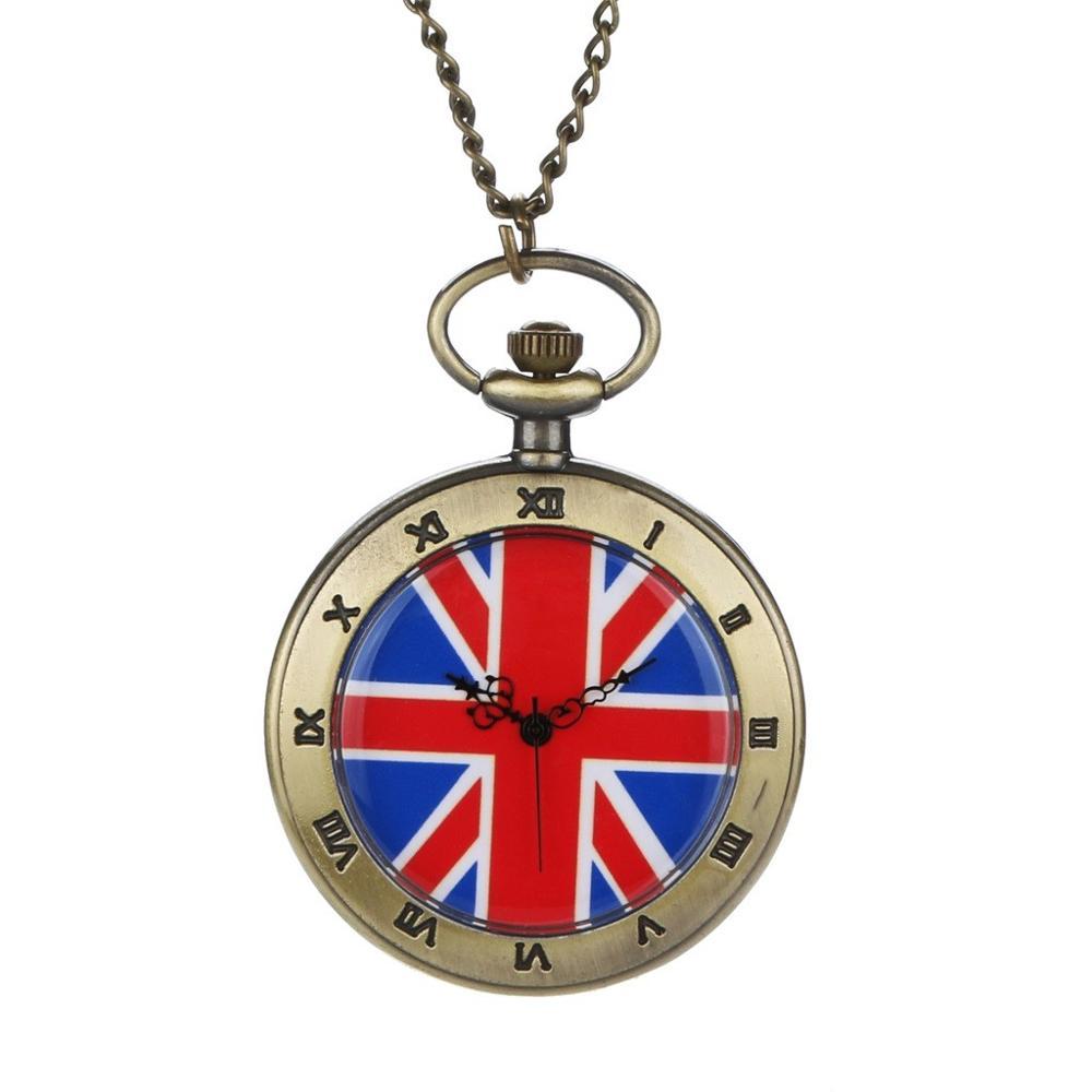 Personalized Pattern Steampunk Vintage Quartz Roman Numerals Pocket Watch Watch Clock Wholesale Relogio De Bolso #4J03